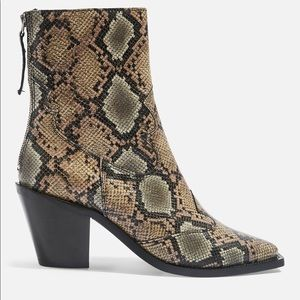 Topshop Snake Boot